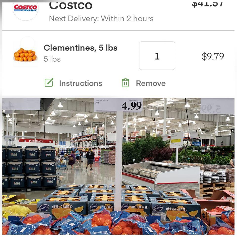 Costco Insta vs real price